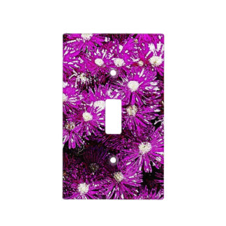 Purple Ice Cap Abstract Light switch Cover