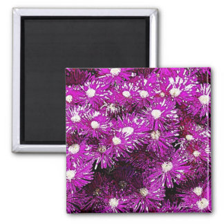 Purple Ice Cap Abstract Magnet