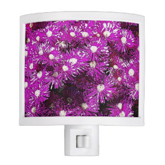 Purple Ice Cap Abstract Night Light