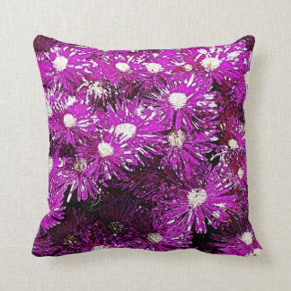 Purple Ice Cap Abstract Throw Pillow