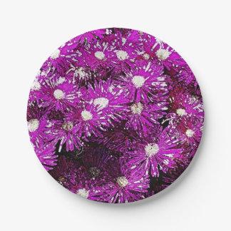 Purple Ice Cap Paper Plate