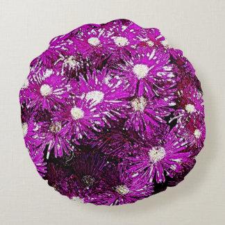 Purple Ice Cap Round Pillow