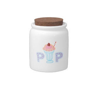 Purple Ice Cream Pop Candy Jar