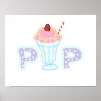 Purple Ice Cream Pop Poster