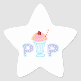Purple Ice Cream Pop Star Sticker