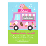 "Purple Ice Cream Truck Birthday Party invitations 4.5"" X 6.25"" Invitation Card"