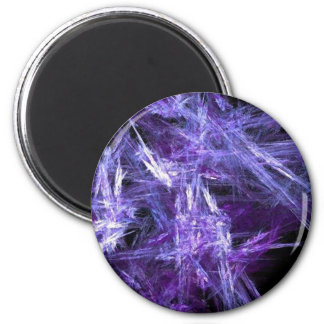 Purple Ice Crystals Magnet