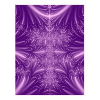 Purple Ice Crystals Postcard