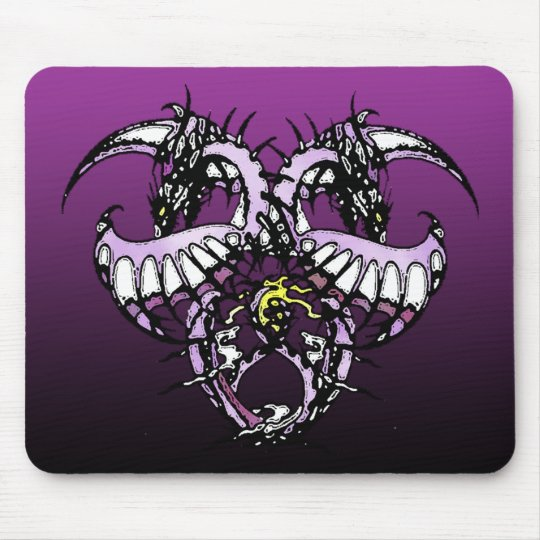 Purple Ice Dragonheart Mouse Pad