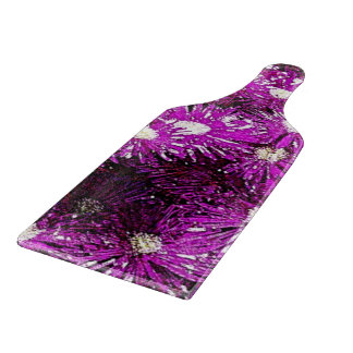 Purple Ice Plant Abstract Cutting Board