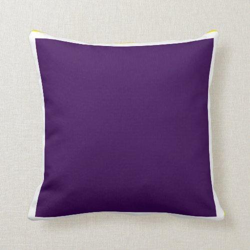 Purple Ice Ponds Throw Pillow
