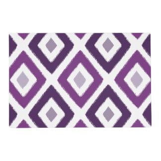 Purple Ikat Diamond Pattern Placemat