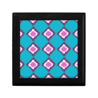 Purple Ikat Diamonds Custom Pattern Gift Box