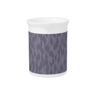 Purple Illustrated Feathers Pattern Drink Pitcher
