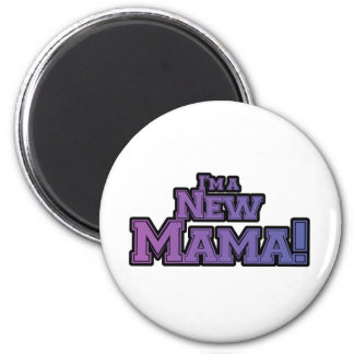 Purple I'm a New Mama Tshirts and Gifts 2 Inch Round Magnet