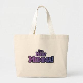 Purple I'm a New Momma Tshirts and Gifts Jumbo Tote Bag