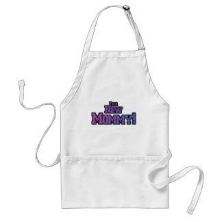 Purple I'm A New  Mommy Tshirts and Gifts Aprons
