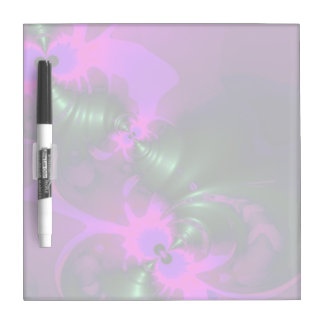 Purple Imp, Abstract Violet and Magenta Ribbons Dry Erase Board