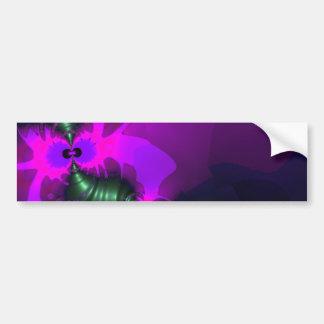 Purple Imp – Violet and Magenta Ribbons Bumper Sticker