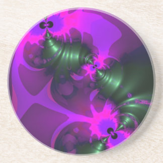 Purple Imp – Violet and Magenta Ribbons Drink Coaster
