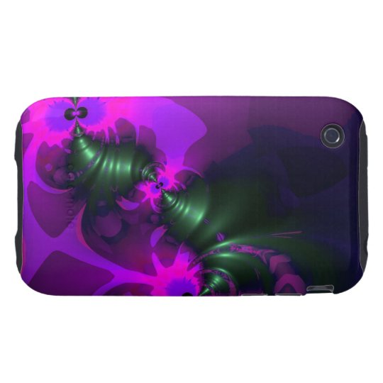 Purple Imp – Violet and Magenta Ribbons iPhone 3 Tough Cover
