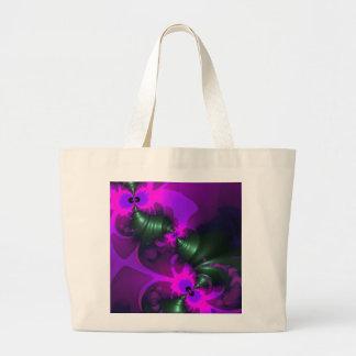 Purple Imp – Violet and Magenta Ribbons Large Tote Bag