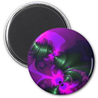 Purple Imp – Violet and Magenta Ribbons Magnet