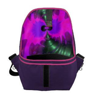Purple Imp – Violet and Magenta Ribbons Messenger Bag