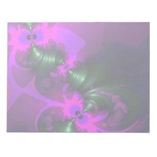Purple Imp – Violet and Magenta Ribbons Notepad