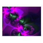 Purple Imp – Violet and Magenta Ribbons Postcard