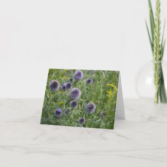 Purple in the garden thank you card