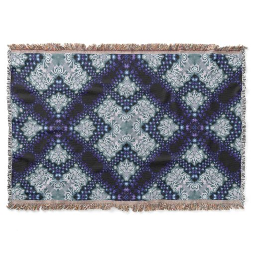 Purple Indigo Essence Medieval Woven Throw Blanket