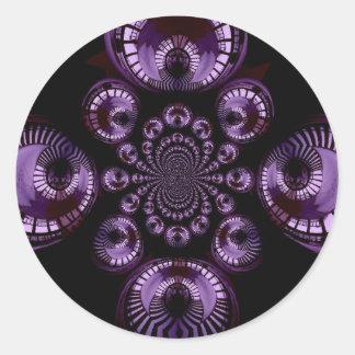 Purple Infinity Classic Round Sticker
