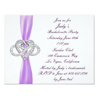 Purple Infinity Heart Bachelorette Party Invite