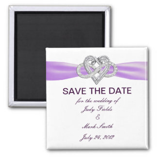 Purple Infinity Heart Save The Date Magnet