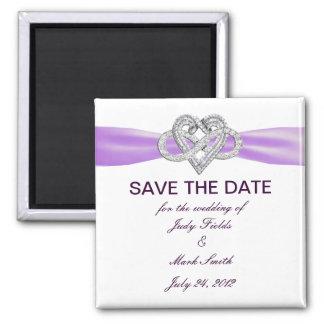 Purple Infinity Heart Save The Date Magnet Fridge Magnet