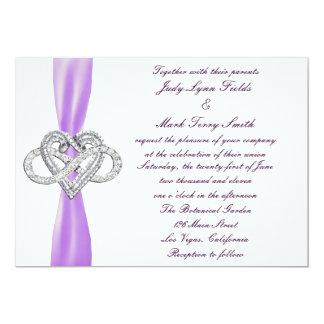 Purple Infinity Heart Wedding Invitation