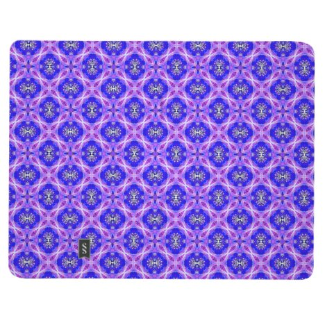 Purple Infinity Signs Abstract Blue Violet Flowers Journal