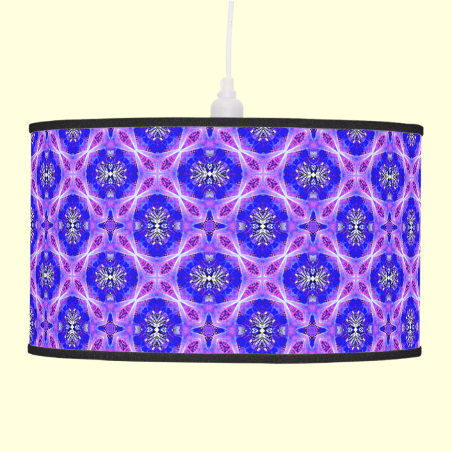Purple Infinity Signs Abstract Blue Violet Flowers Hanging Pendant Lamps