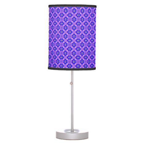 Purple Infinity Signs Abstract Blue Violet Flowers Table Lamp