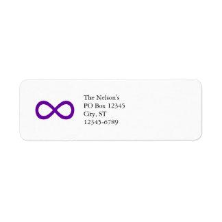 Purple Infinity Symbol Return Address Labels