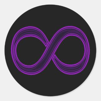 Purple Infinity Symbol Sticker