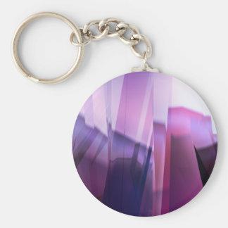 Purple Infraction Basic Round Button Keychain
