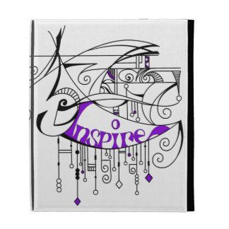 Purple Inspire In Lines and Dangles iPad Cases
