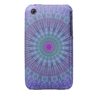 Purple Inspire mandala kaleidoscope iPhone 3 Covers