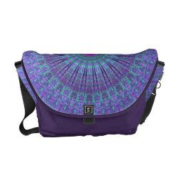 Purple Inspire mandala kaleidoscope Courier Bag