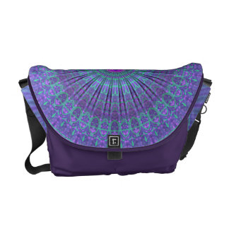 Purple Inspire mandala kaleidoscope Courier Bag