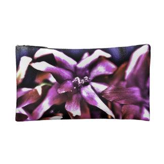 Purple Intense Flowers Makeup Bag