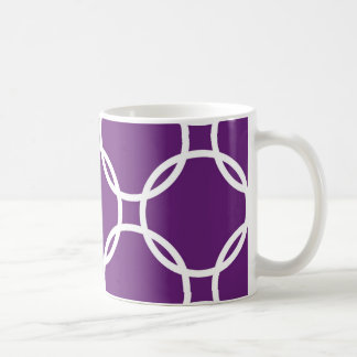 Purple Interlock Circles Coffee Mug