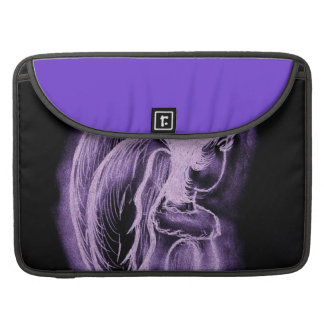 Purple Inverted Sideways Angel Sleeve For MacBook Pro
